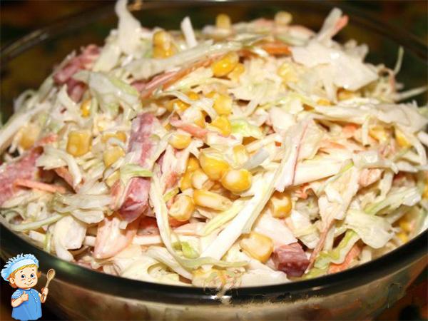 Легкий сытный салатик